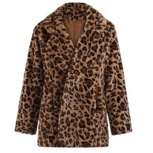 Jackets & Blazers - 😧ONLY 2 LEFT! Cheetah Animal Faux Fur Coat jacket